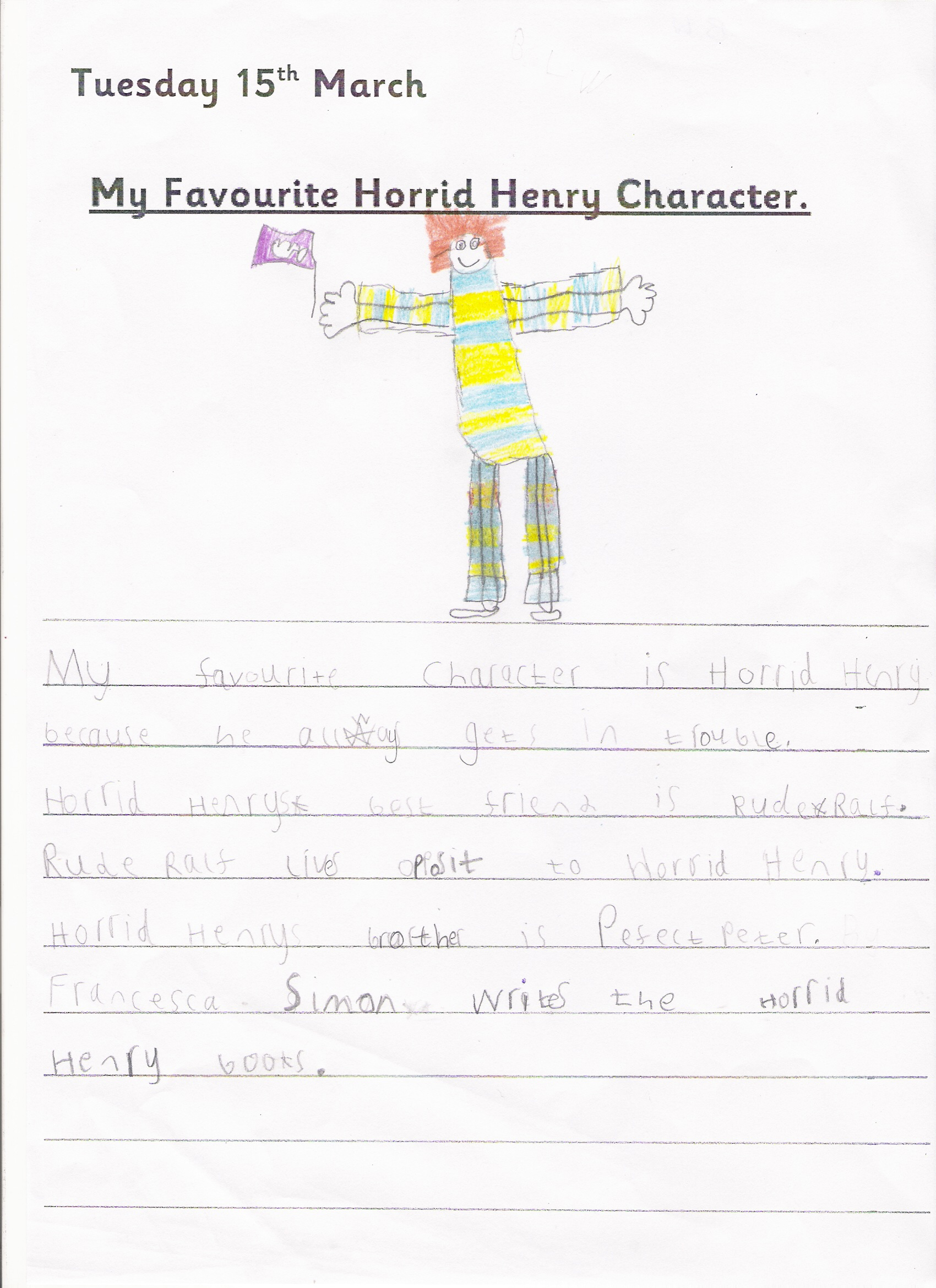 Our Favourite Horrid Henry Characters 2RW